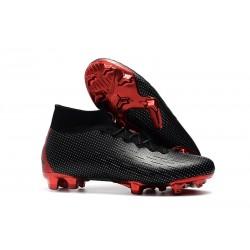 Crampons Nike x Jordan Mercurial Superfly VI 360 FG - Noir Rouge