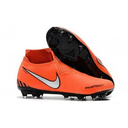 Nike Crampon Phantom VSN Elite DF FG - Orange Noir Argent