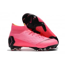 Crampons de Football Nike Mercurial Superfly VI 360 FG - Rose Noir