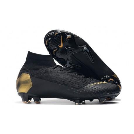 Crampons de Football Nike Mercurial Superfly VI 360 FG - Noir Or