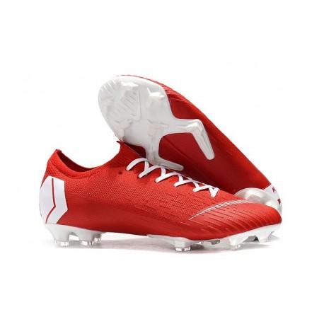 Nike Mercurial Vapor XII 360 Elite FG Chaussure Homme - Rouge Blanc