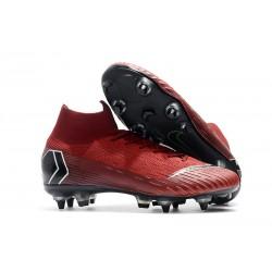 Nike Chaussure Mercurial Superfly VI Elite SG-Pro AC Rouge Noir