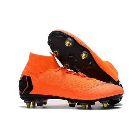 Nike Chaussure Mercurial Superfly VI Elite SG-Pro AC Orange Noir
