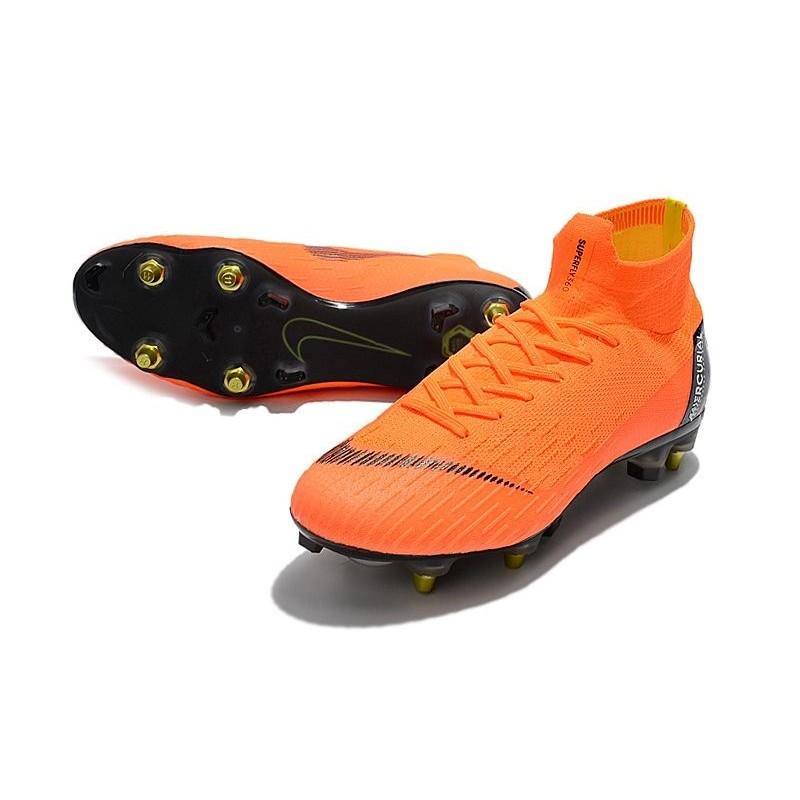 super cheap detailed pictures the best Nike Chaussure Mercurial Superfly VI Elite SG-Pro AC Orange Noir