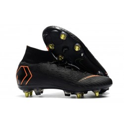 Nike Chaussure Mercurial Superfly VI Elite SG-Pro AC Noir Orange