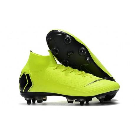 Nike Chaussure Mercurial Superfly VI Elite SG-Pro AC Volt Noir