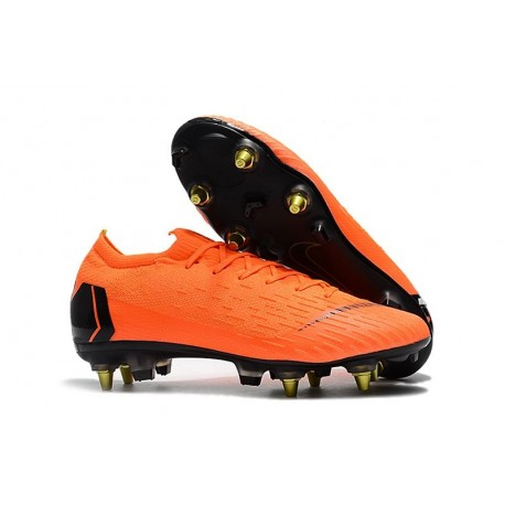 Nike Mercurial Vapor XII Elite Anti-Clog SG-Pro Orange Noir