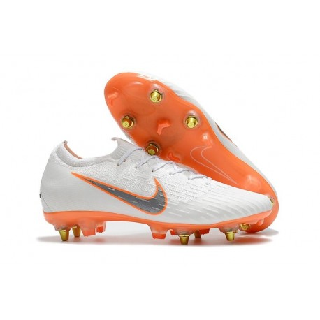 Nike Mercurial Vapor XII Elite Anti-Clog SG-Pro Blanc Orange