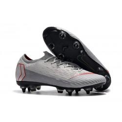 Nike Mercurial Vapor 12 SG-Pro AC Chaussure - Gris Rouge