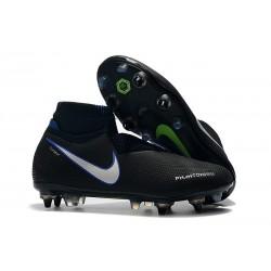 Nike Phantom Vision Elite DF SG-Pro AC Noir Bleu Argent