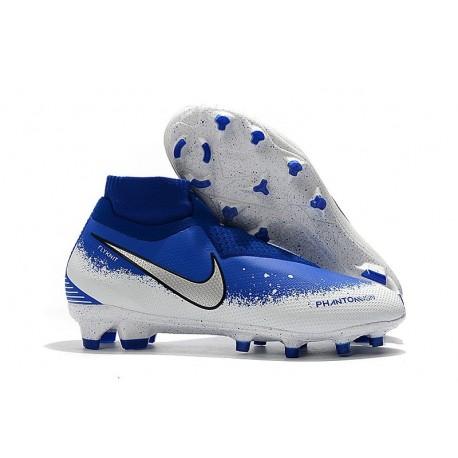 Nike Crampon Phantom VSN Elite DF FG - Bleu Blanc