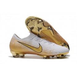 Crampons Nike Mercurial Vapor 12 Elite FG ACC Blanc Or