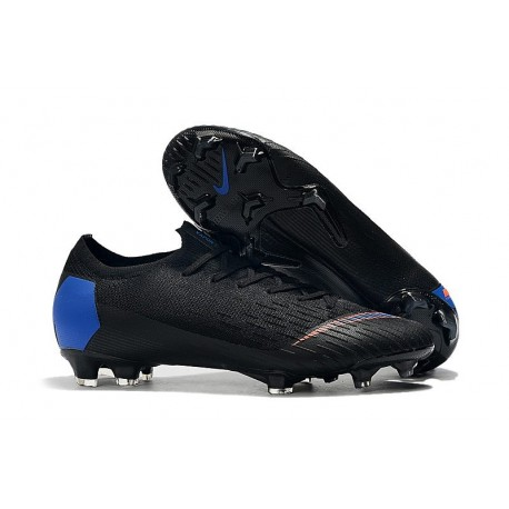 Crampons Nike Mercurial Vapor 12 Elite FG ACC Noir Bleu Orange
