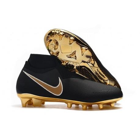 Nike Crampon Phantom VSN Elite DF FG - Noir Or