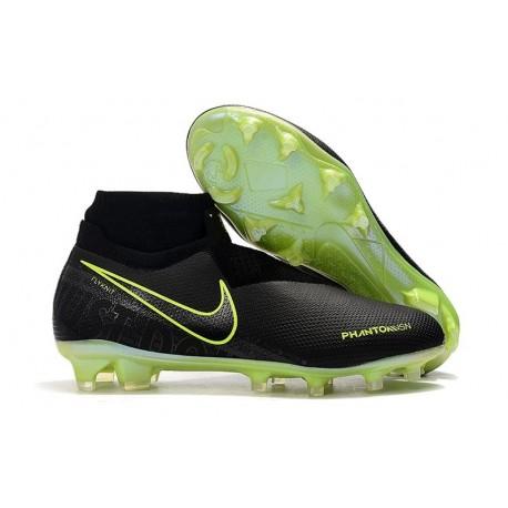 Chaussures de Foot Nike Phantom Vision Elite FG Noir Volt