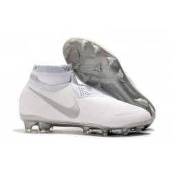 Chaussures de Foot Nike Phantom Vision Elite FG Blanc