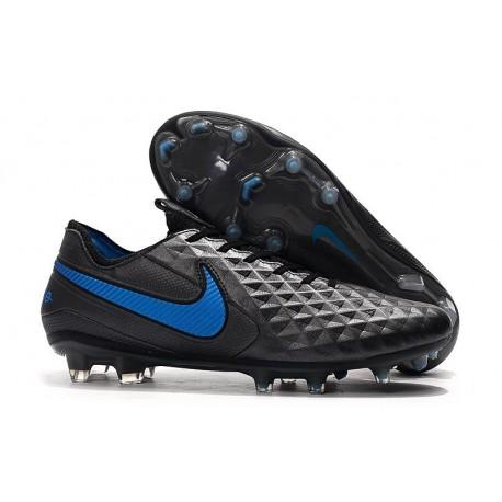 Nike Crampons Nouvelles Tiempo Legend VIII Elite FG Noir Bleu