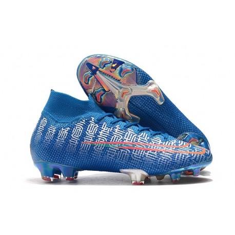 Chaussure Nike Mercurial Superfly VII Elite FG Shuai Bleu
