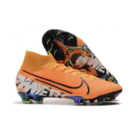 Chaussure Nike Mercurial Superfly VII Elite FG Orange Noir