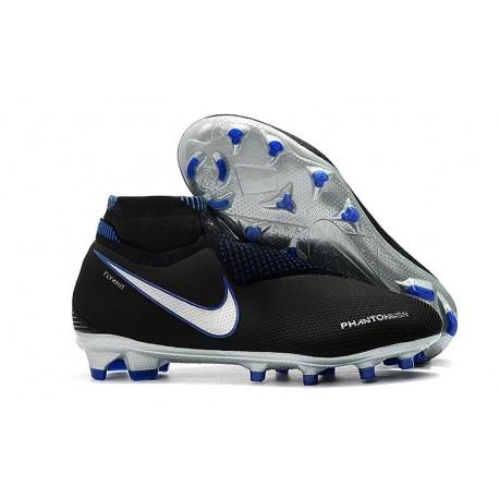 Nike Phantom Vision Elite DF FG Chaussures de Football - Noir Bleu