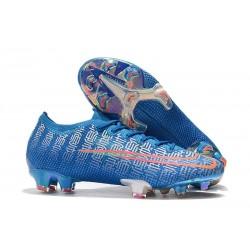 Crampons Nouveaux Nike Mercurial Vapor 13 Elite FG - Bleu Rouge