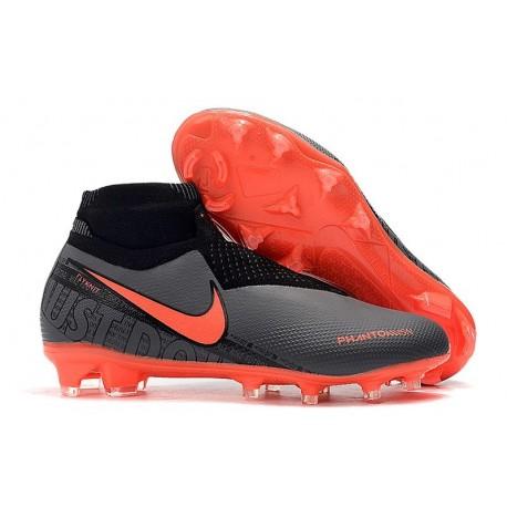 Chaussures de Foot Nike Phantom Vision Elite FG Noir Cramoisi