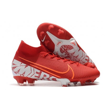 Chaussure Nike Mercurial Superfly VII Elite FG Rouge Blanc