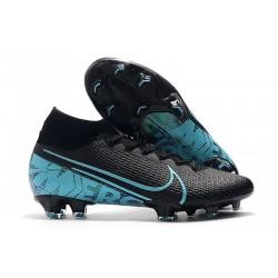 Chaussure Nike Mercurial Superfly VII Elite FG Noir Bleu