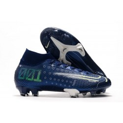 Chaussure Nike Dream Speed Mercurial Superfly VII Elite FG Bleu Blanc