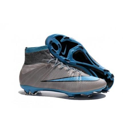 Nike Nouvel Chaussure Mercurial Superfly CR7 FG ACC Gris Bleu