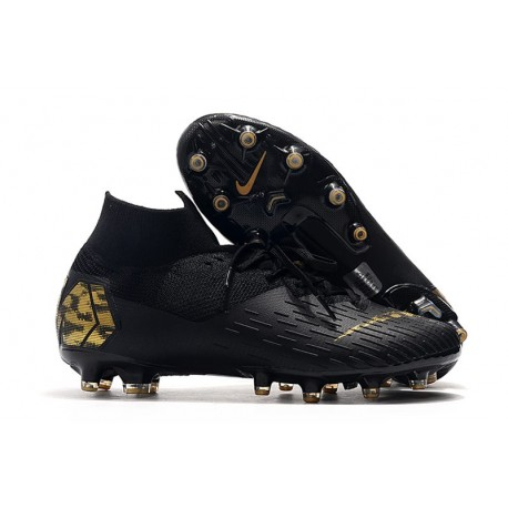 Crampon Nike Mercurial Superfly VII Elite AG-Pro Noir Or