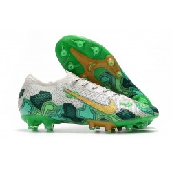 Nike MERCURIAL VAPOR 13 ELITE AG-PRO Mbappe Gris Vert Or