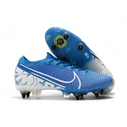 Nike Mercurial Vapor 13 Elite SG PRO AC Flyknit 360 New Lights Bleu Blanc