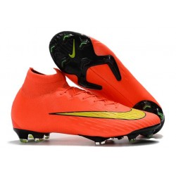 Nike Mercurial Superfly FG Chaussures Football Rouge Or