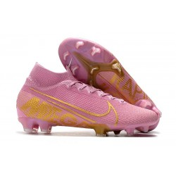 Nike Crampon Mercurial Superfly 7 Elite FG - Rosa Or
