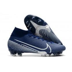 Nike Crampon Mercurial Superfly 7 Elite FG - Bleu Blanc