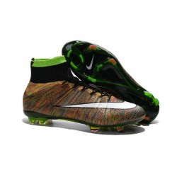 Crampon Chaussure Meilleur Nike Mercurial Superfly 4 FG Multicolore Blanc