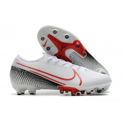 Nike MERCURIAL VAPOR 13 ELITE AG-PRO Blanc Cramoisi