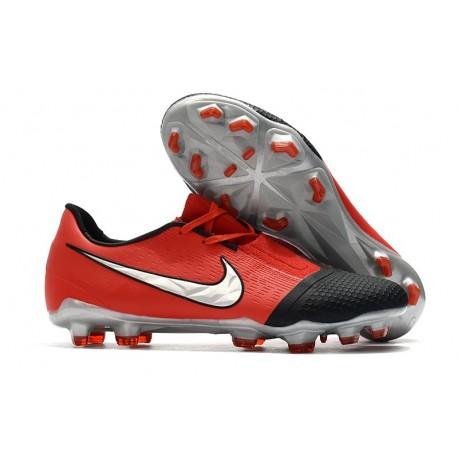 Chaussures de Foot Nike Phantom Vnm Elite FG -Cramoisi Argent Noir