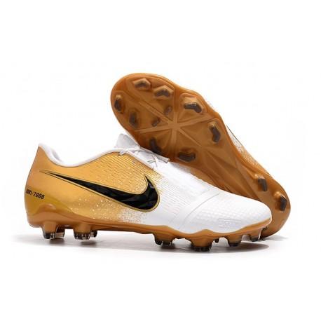 Chaussures de Foot Nike Phantom Vnm Elite FG - Blanc Or Noir