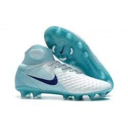 Crampons de Foot Nike Magista Obra FG ACC Homme Turq Bleu