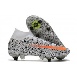 Nike Mercurial Superfly 7 Elite SG-Pro CR7 Safari-Blanc Orange Noir