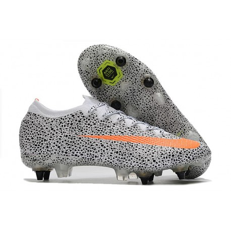 Nike Mercurial Vapor XIII Elite SG Anti Clog CR7 Safari-Blanc Orange Noir
