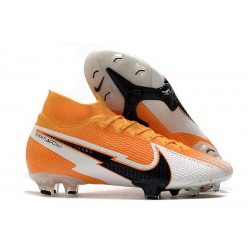 Chaussure Nike Mercurial Superfly VII Elite DF FG -Orange Laser Noir Blanc
