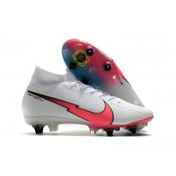 Nike Mercurial Superfly 7 Elite SG-Pro Anti Clog Blanc Rouge