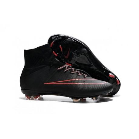 Crampon Chaussure Meilleur Nike Mercurial Superfly 4 FG Noir Rouge