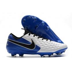 Chaussure Nike Tiempo Legend 8 Elite FG ACC Blanc Bleu Noir
