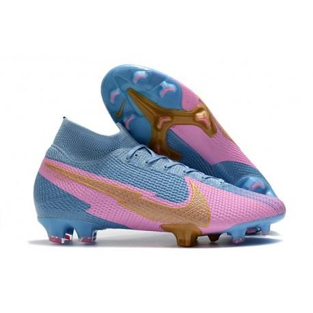 Nike Mercurial Superfly 7 Elite FG ACC Bleu Rose Or