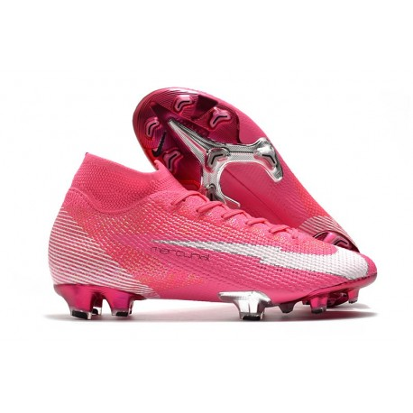 Nike Mercurial Superfly 7 Elite FG ACC x Mbappe Rose Blanc Noir