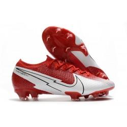 Crampon Nike Mercurial Vapor 13 Elite FG Rouge Blanc